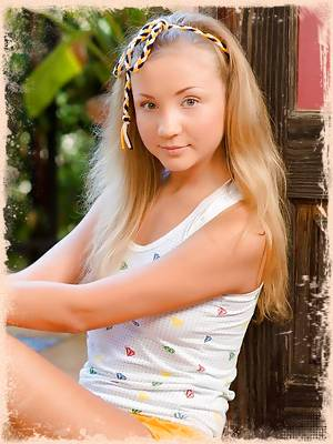 Charming young princess gets her body relaxed
