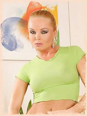 Silvia Saint strips off her cute denim shorts