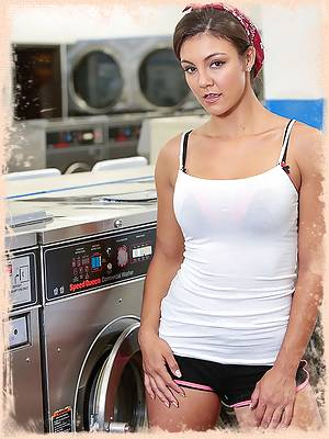Curvy and cute Tomi Taylor runs into a friend at the laundromat and they flirt and end up fucking! She sucks his dick and he pounds into her from behind until he drops his load all over her amazing ass!