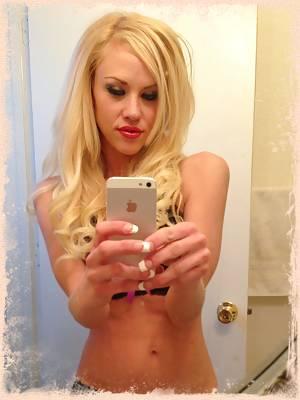 Gorgeous blonde iphone mirror selfies